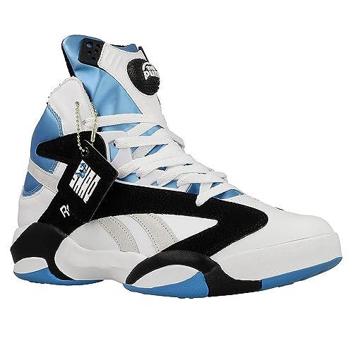 db10eef6fdb10 Reebok - Shaq Attaq - V47915 - Color: Black-Light Blue-White - Size ...