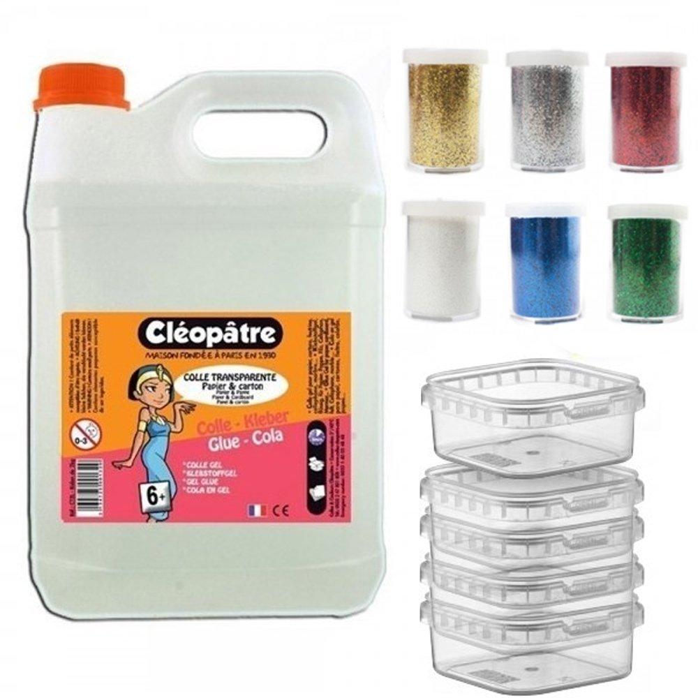 Cléopâtre colla trasparente ct2l + Il Kit speciale Slime