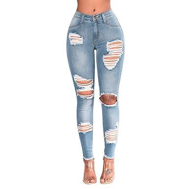 Alaso Pantalones Vaqueros para Mujer, tallados Finos ...