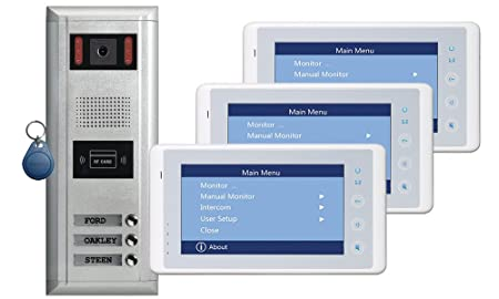 3 Apartments Thespa Video Door Entry System With Cronus White 7
