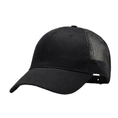Adjustable Cotton Baseball Caps Men Women Mesh Back Dad Hats Unstructured Caps  Hat Black  Amazon.co.uk  Clothing 9476de8091f