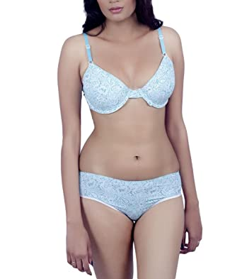8801a5a54430 KOTTY Multicolour Printed Soft Bra & Panty Set: Amazon.in: Clothing &  Accessories