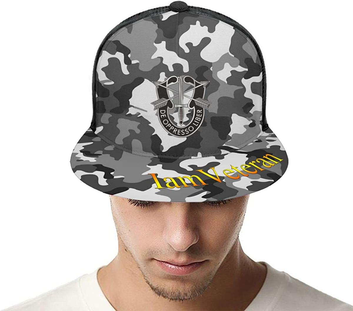 Army Special Forces Logo Classic Grid Cap Flat Along Baseball Hats Snapback Unisex Hat Adjustable