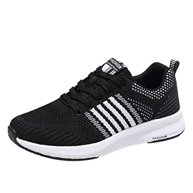 KAIKAIKOO Flats Maternity Shoes for Women Womens Lightweight Gym Sneakers Running Sports Casual Breathable Shoe Black
