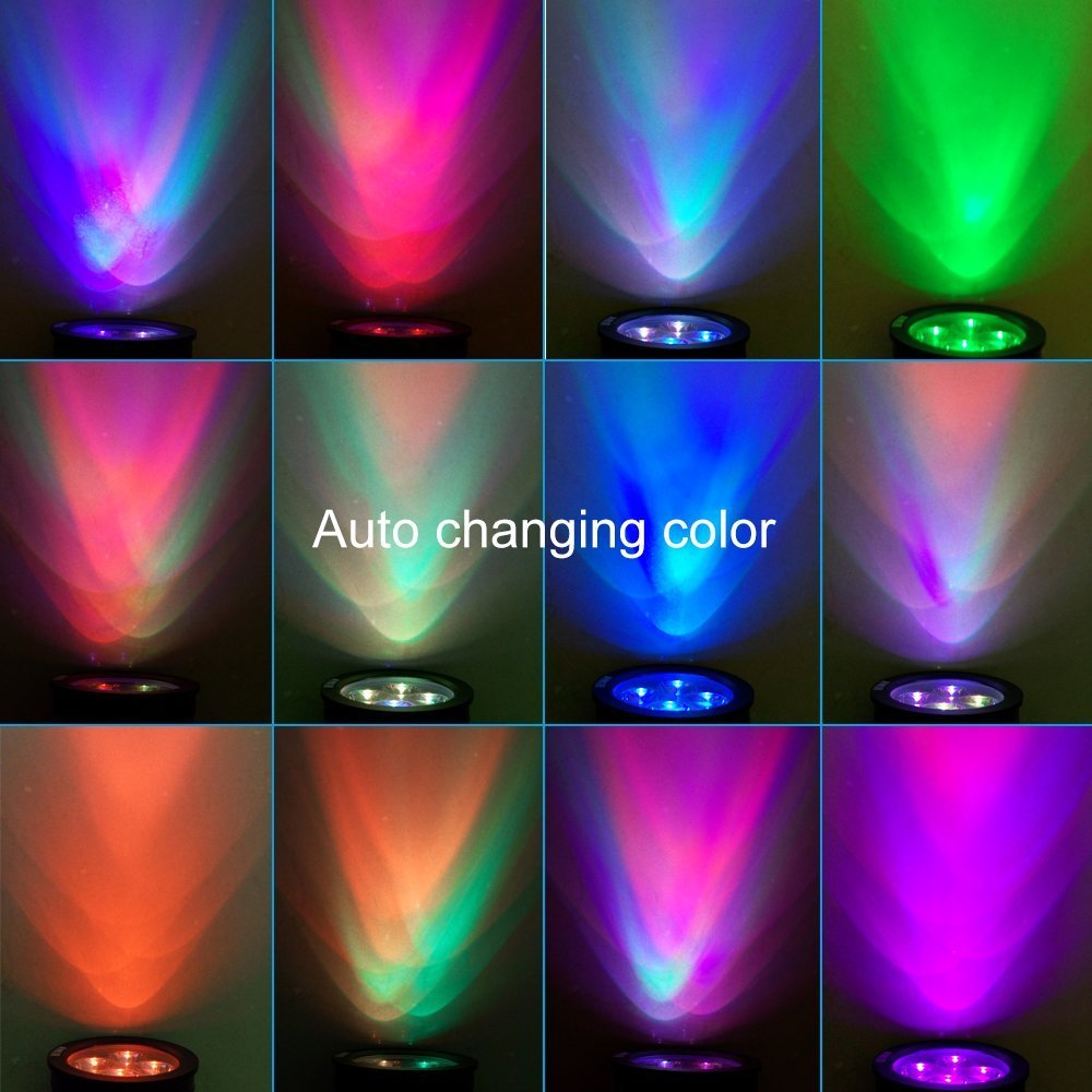Amazoncom Hkyh Color Changing Led Solar Spotlight Solar Outdoor