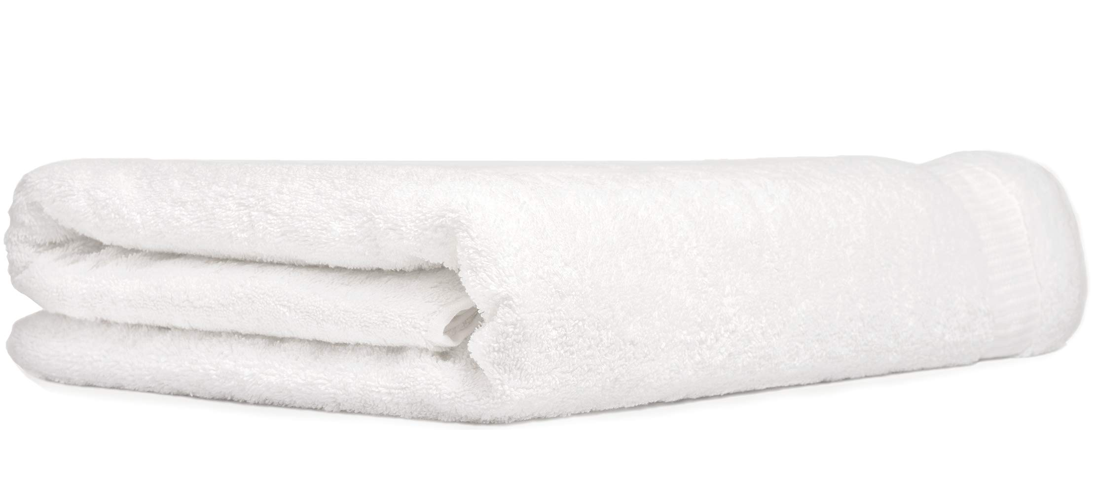 Luxury Oversized Jumbo Bath Sheets Extra Large 40X80 Inch White Bathroom Towel Premium Turkish Cotton Giant Absorbent Bath Sheet Multipurpose Use for Bath, Beach Gym and Spa, 1295 Gram by Class Cotton
