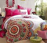 LELVA Boho Style Bedding Set,Boho Duvet Cover Set,Bohemian Bedding Set,Queen,4Pcs (2, King)