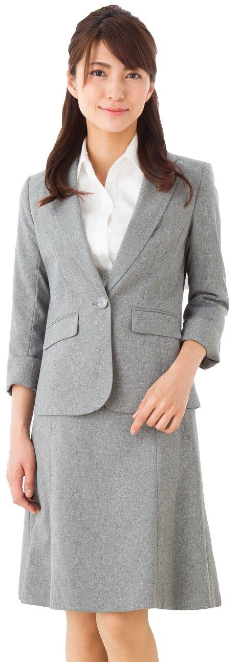 (アッドルージュ) AddRouge スーツ レディース 七分袖 2点セット スカートスーツ テーラードジャケット マーメイドスカート 洗える クールビズ 春夏【j5067】 B072Q1RWF2 17号ABR|ライトグレー ライトグレー 17号ABR