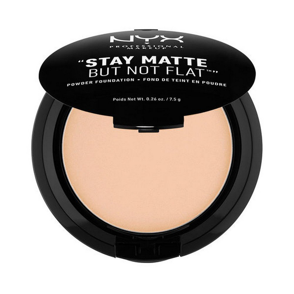 NYX PROFESSIONAL MAKEUP Stay Matte but not Flat Powder Foundation, Natural, 0.26 Ounce NYX-3756