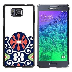 TopCaseStore / la caja del caucho duro de la cubierta de protección de la piel - Purple Green Orange Pattern Inca - Samsung GALAXY ALPHA G850