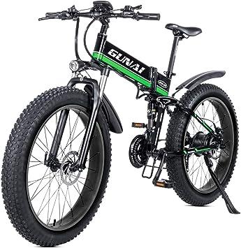 GUNAI Bicicleta eléctrica de montaña, 26