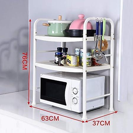 FANGFA Estante de cocina 2 capas 3 capas Horno de microondas Olla ...