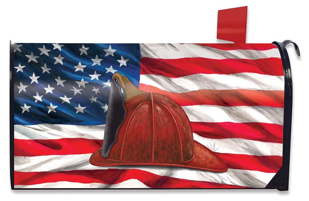 Briarwood Lane Fireman Helmet Magnetic Mailbox Cover Emergency Services Standard
