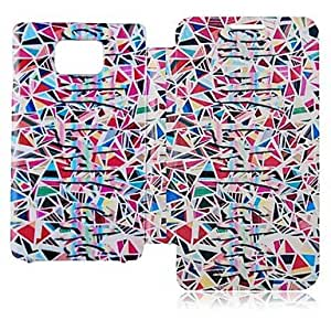 TOPQQ Joint Color Leather Full Body Case for Samsung Galaxy S2 I9100
