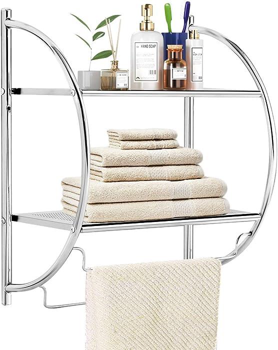 The Best Neu Home Glass Shelf With Towel Rack