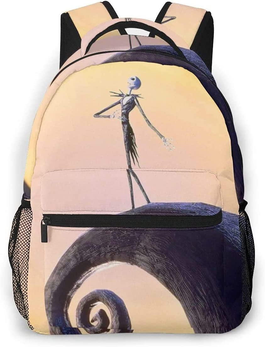 Tactical Backpack For Men Jack Skellington Casual Bookbag Daypack Laptop Teen Girls Boys School Bag