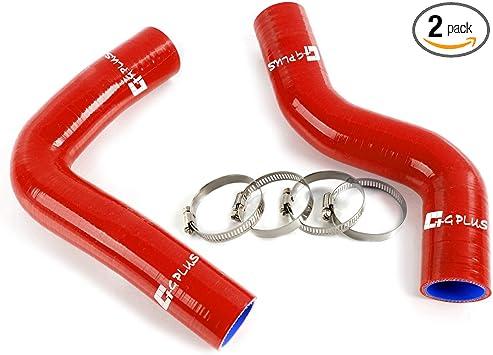 Silicone Radiator Coolant Heater Hose Red FOR 96-00 Impreza WRX STi GC8
