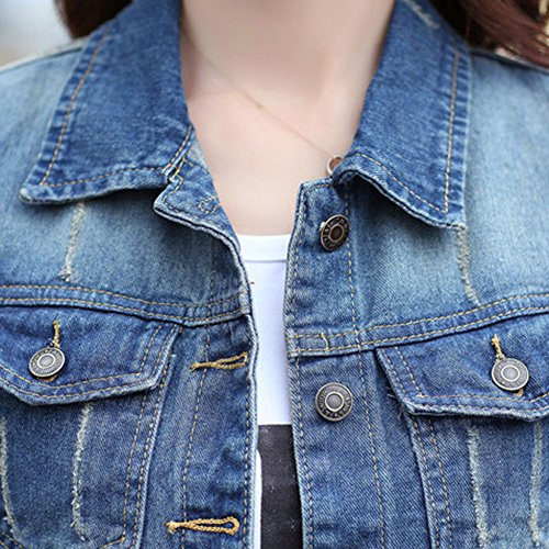 Immagine Giacca Donna Come Casual Denim Di Gladiolusa Jeans Cappotto Outwear 7zxH4zqwd