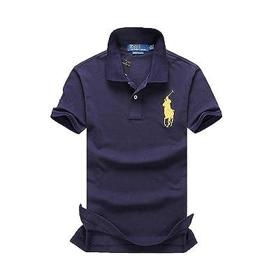 Ralph Lauren Men\u0026#39;s Polo Shirt Small Navy Blue (With Yellow Pony)