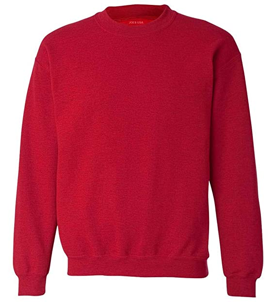 b2032360d Joe's USA - Soft & Cozy Crewneck Sweatshirts, S Antique Cherry Red