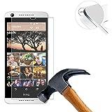 Lusee® HTC Desire 626 Protection écran en Verre Trempé ULTRA RÉSISTANT INDICE Dureté 9H Haute transparence( plus dure que un couteau) – il est vendu avec un torchon de nettoyage et alcool isopropilique