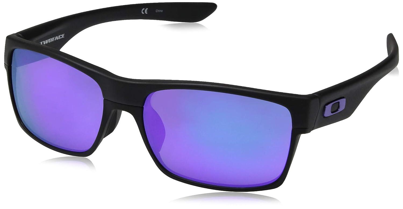 caf965809d Oakley Sun 0OO9256 Full Rim Rectangle Man Sunglasses - Size 60 (Matte Black    Violet Iridium)  Oakley  Amazon.co.uk  Clothing