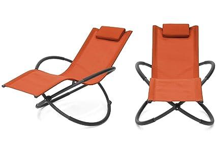 Amazon.com: Moderna silla orbital plegable de tela de PVC ...