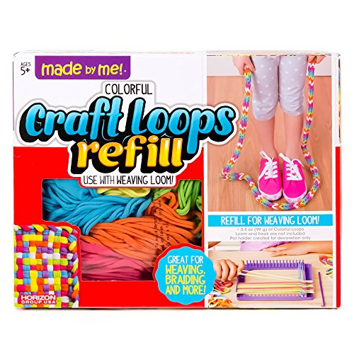 (Made By Me Craft Loops Refill By Horizon Group Usa, Includes 7 Vibrant Colors)