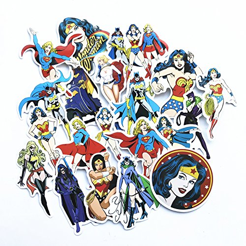 20 PCS Random Different Stickers Super Hero Woman For Kids Laptop skateboard Toy Stickers