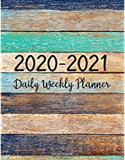 2020-2021 Planner: Jan 2020 - Dec 2021 2 Year Daily Weekly Monthly Calendar Planner W/ To Do List Academic Schedule Agenda Logbook Or Student & Teacher Organizer Journal Notebook, Appointment Business Planners W/ Holidays | Painted Color Wood