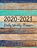 2020-2021 Planner: Jan 2020 - Dec 2021 2 Year Daily Weekly Monthly Calendar Planner W/ To Do List Academic Schedule Agenda Logbook Or Student & ... Color Wood