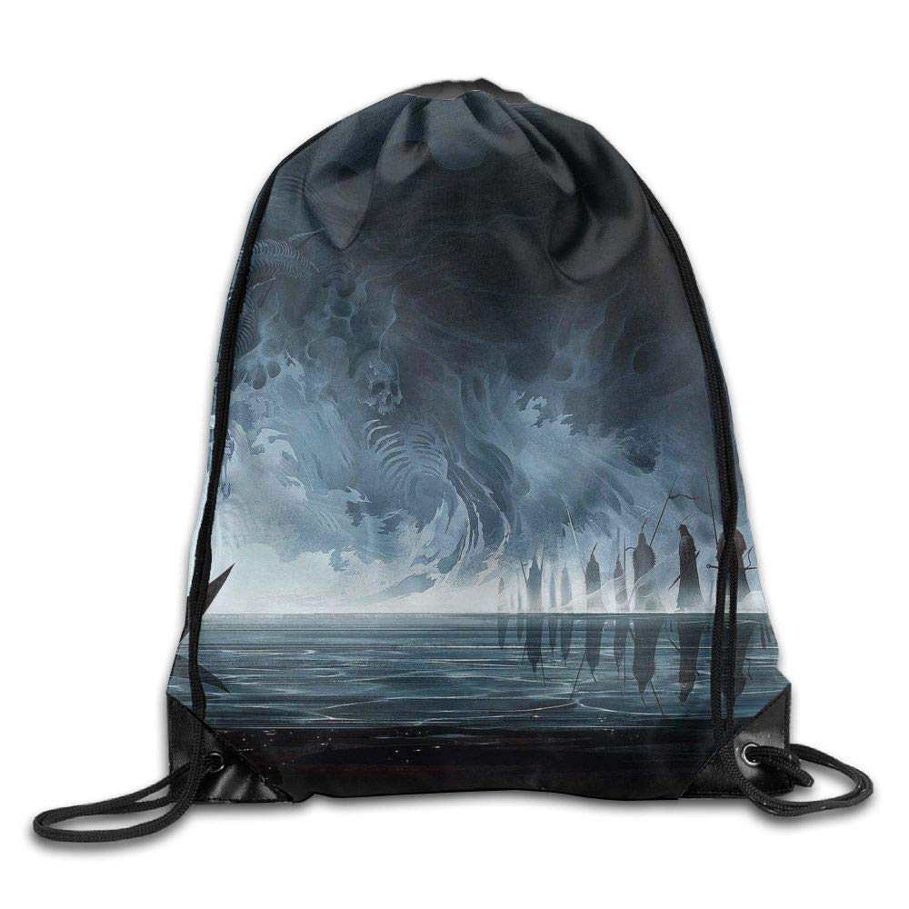 Digital Art Fall Nature Mountain Chain Trees Drawstring Pack Beam Mouth Gym Sack Shoulder Bags Men /& Women