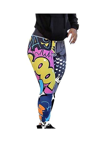 precios baratass diseño de calidad desigual en el rendimiento Lucardo Mallas Deportivas Mujer Pantalones Yoga Pilates Legging Leggings  para Running Fitness Gimnasio Training Ejercicio Mujer Gym Yoga Pantalón #02