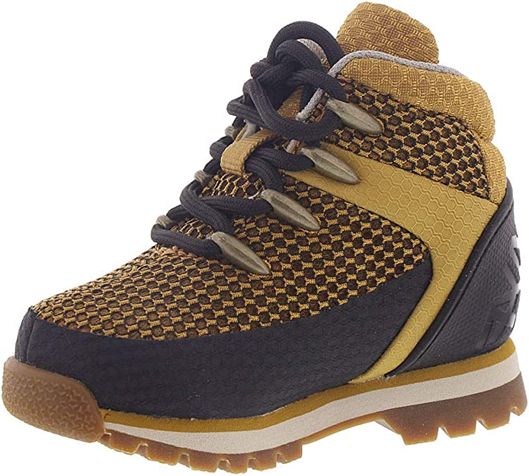 Timberland Euro Sprint Fabric Mid Hiker T Boys' Infant Toddler Boot 5.5 M US Toddler Wheat