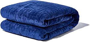 """Gravity Blanket: The Weighted Blanket For Sleep, Stress and Anxiety, Navy 48"""" x 72"""" Size, 15-Pound"""