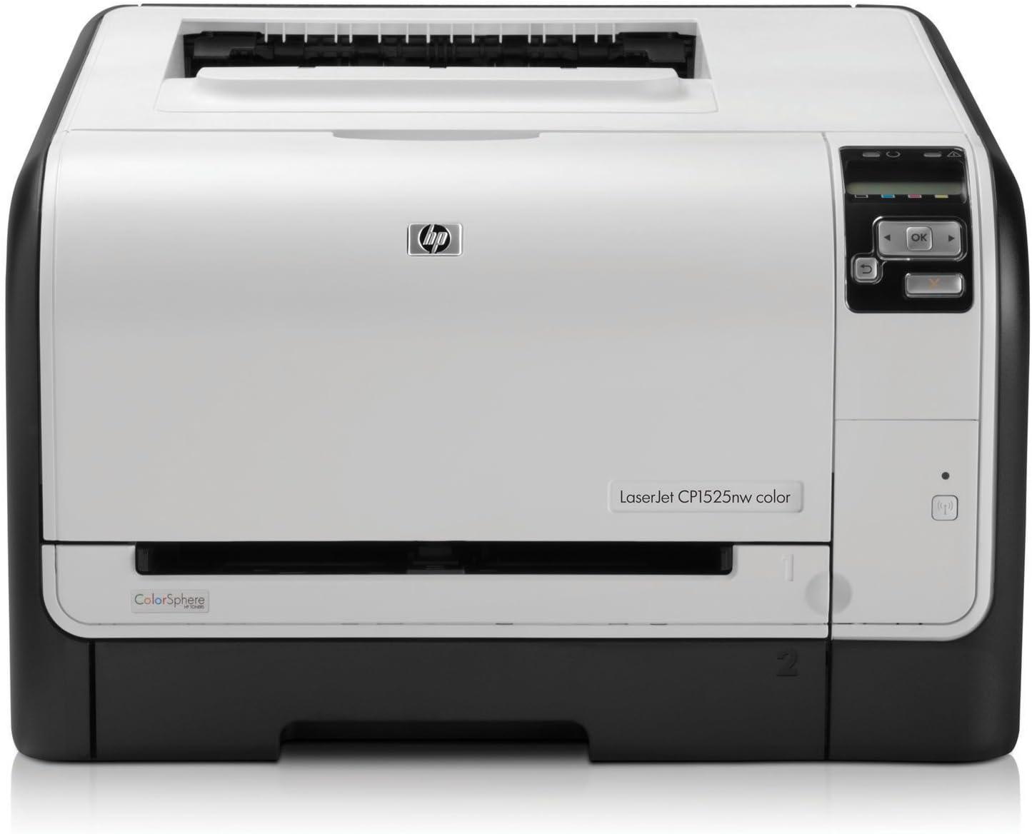 HP LaserJet Pro Color CP1525nw - Impresora láser color (12 ppm, A4 ...