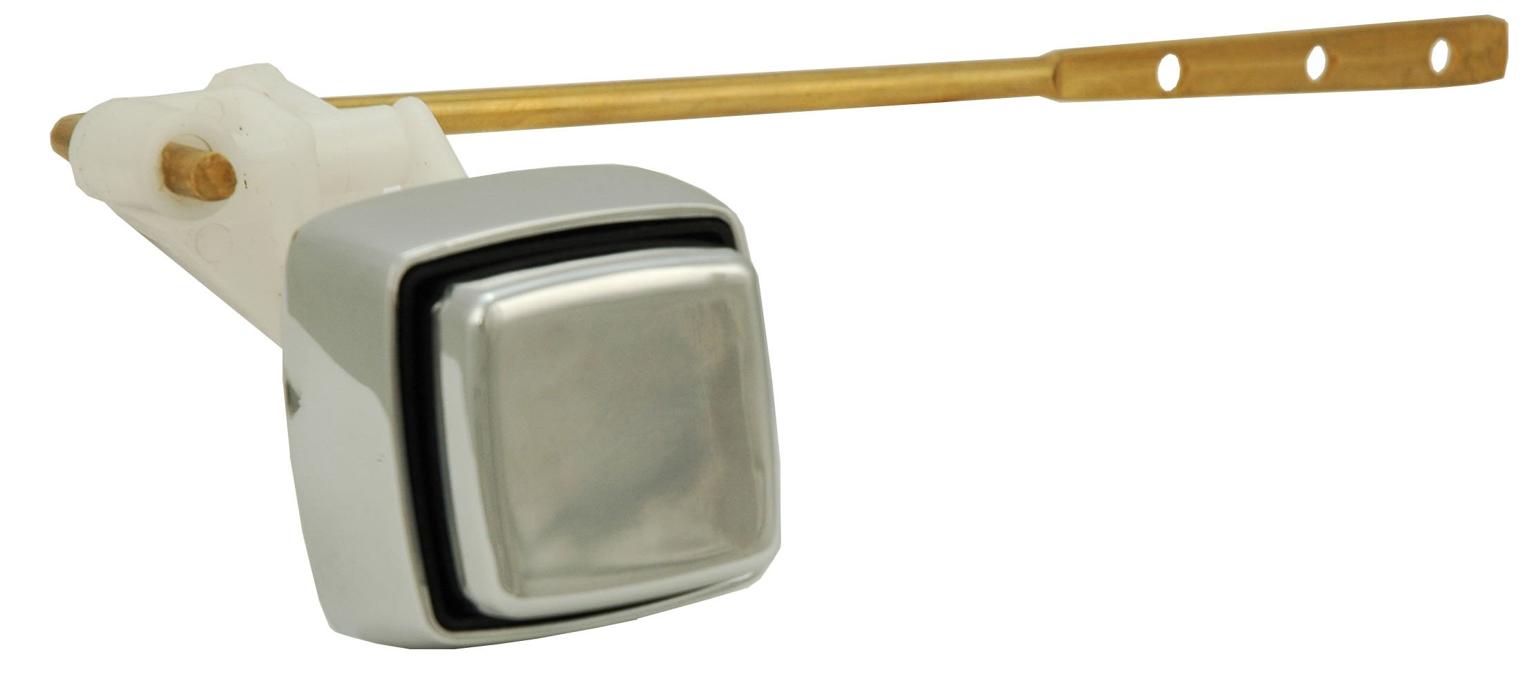 Tank Lever, Toilet Tank Handle - Push Button Style, Frontal Mount, Chrome Finish - By Plumb USA