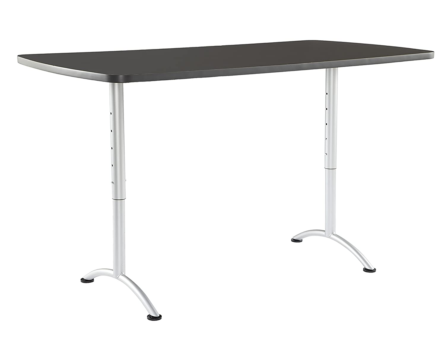 "Iceberg ICE69327 ARC 6-foot Adjustable Height Rectangular Conference Table, 36"" x 72"", Graphite/Silver Leg"