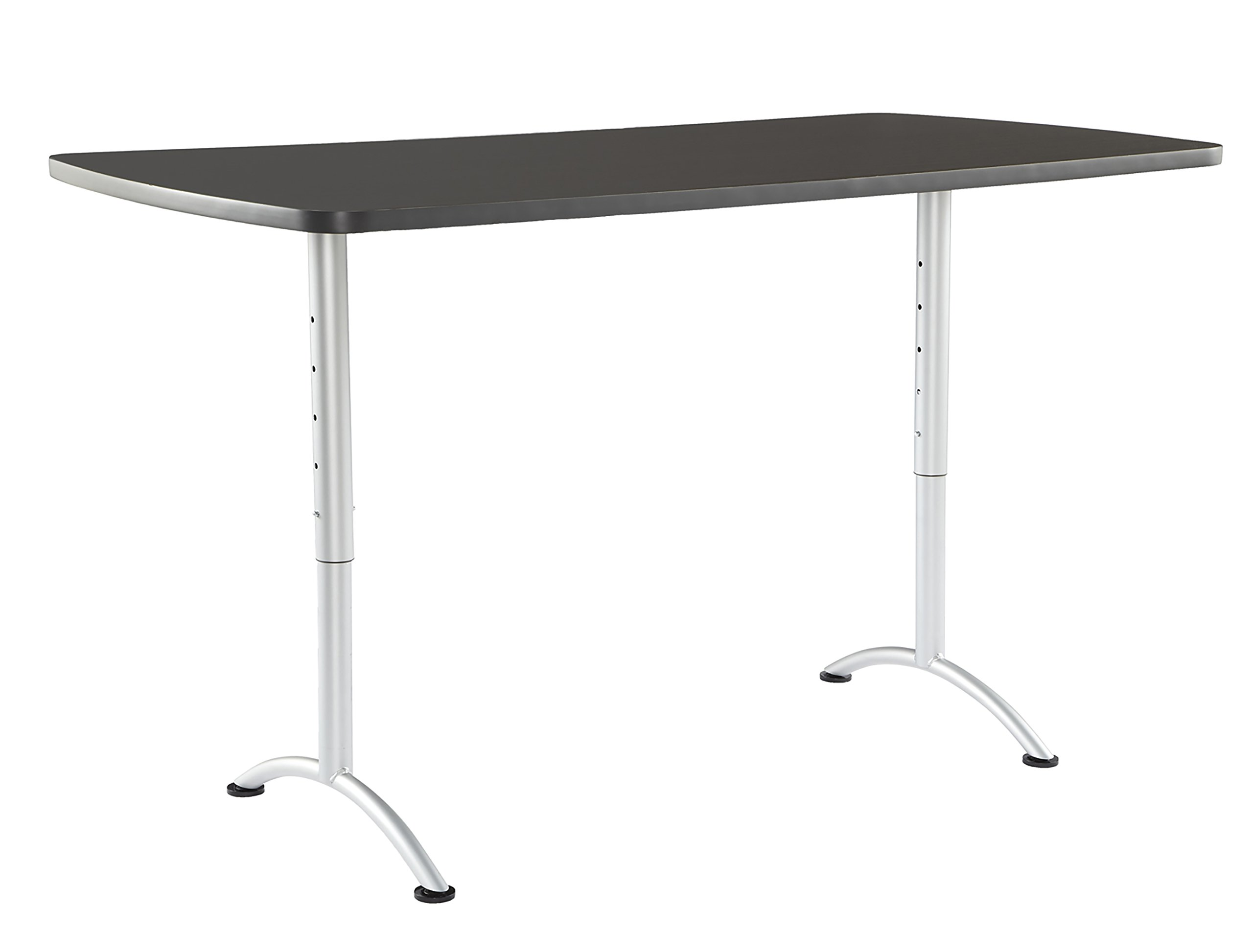 Iceberg ICE69327 ARC 6-foot Adjustable Height Rectangular Conference Table, 36'' x 72'', Graphite/Silver Leg