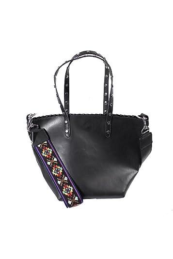 c40eafa61 Amazon.com  Circus by Sam Edelman Women s Lela Tote Black Black Studs Guitar  Strap Handbag  Shoes