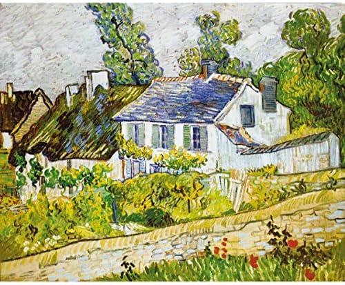 Puzzle 500 pièces - Puzzle en bois découpé à la main - Van Gogh Vincent : Maison à Auvers