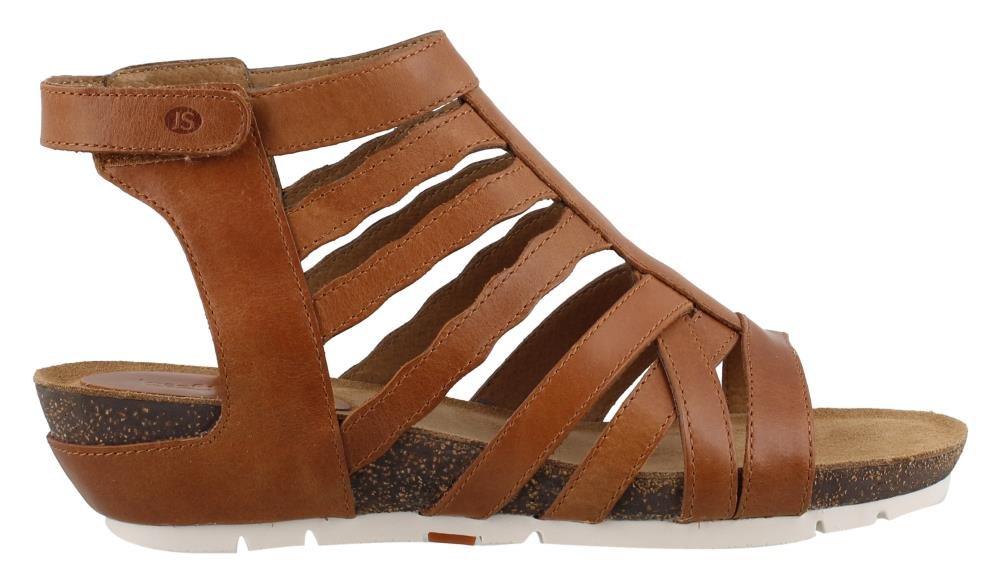 Josef Seibel Hailey 17 Women Leather Regular Sandals Camel Como EU 38 - US W7-7.5/M5