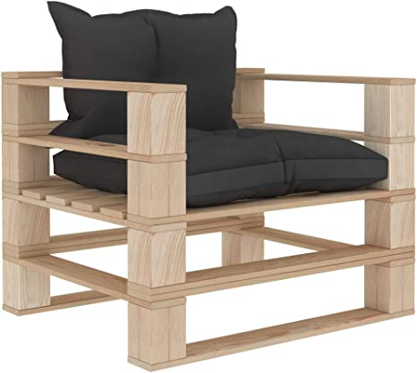 vidaXL Impr/ägniert Kiefernholz Garten Palettensofa 2-Sitzer Sofa Lounge Loungesofa Gartensofa Gartenm/öbel Palettenm/öbel Gartengarnitur Sessel Couch Gr/ün