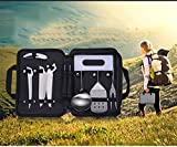9 Pcs Camping Kitchen Utensil Organizer Travel