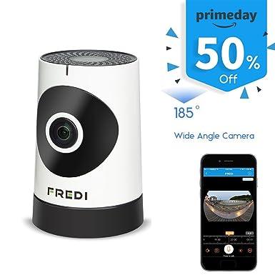 Fredi 185 ° gran angular WiFi de vigilancia cámara de seguridad IP con visión nocturna por