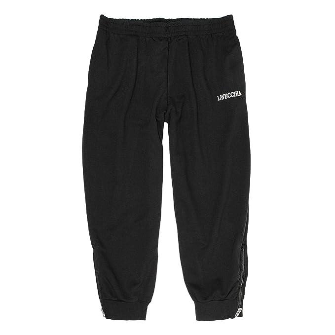 Lavecchia Tallas Extra Grandes Pantalón chándal Negro con más Delgado Tela  de algodón 8XL  Amazon.es  Ropa y accesorios efb160586795