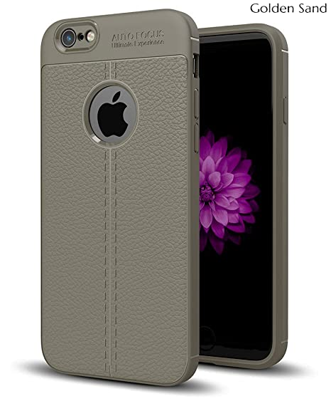 release date a3811 e7577 Golden Sand Compatible with Apple iPhone 6s / 6 Cover Leather Texture Armor  Shockproof TPU Back Cover Case for iPhone 6s Mobile Magnet Grey