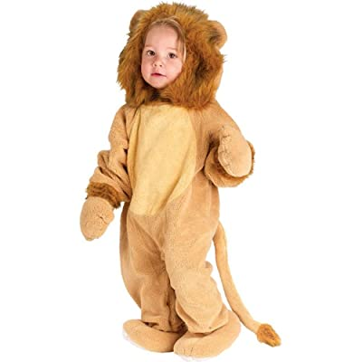 Toddler Lion Halloween Animal Costume (Size: 4T): Clothing