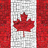 Paperproducts Design Lunch Napkin with Exquisite Canadian Flag Mosaic Design, 6.5 x 6.5'', Red