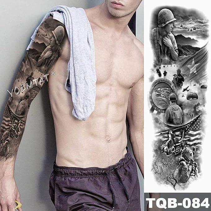 3 Piezas Gran Brazo Manga Tatuaje alas de ángel Paloma jesús ...